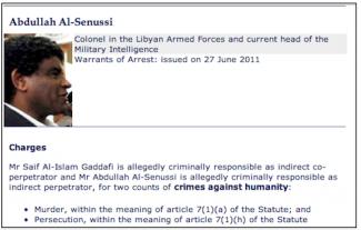 Abdullah Senussi - Libya Intelligence Chief