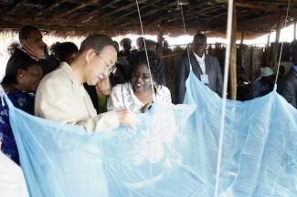 SG and Mrs. visit of Mwandama Millennium Villiage