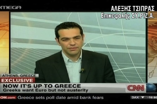 Tsipras CNN interview - source Mega TV
