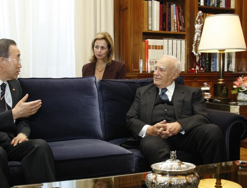 Ban Ki-moon Meets the President of the Hellenic Republic