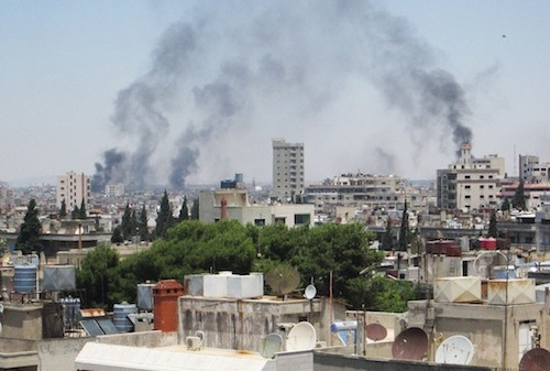 Shelling in Homs, Syria