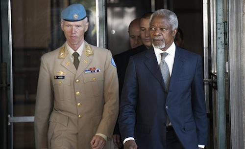 Kofi Annan and Mood - source UN