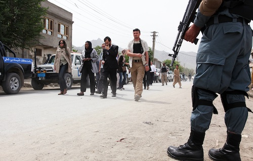 Valerie Amos in Afghanistan