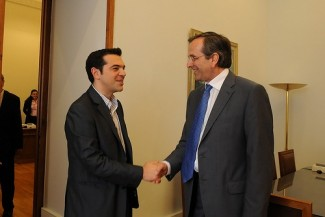 Samaras-Tsipras - source ND Flickr
