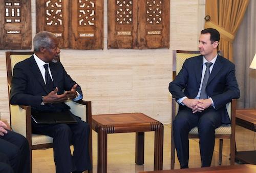 Annan Meets with Assad