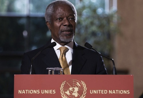 Annan Kofi on Syria - source UN