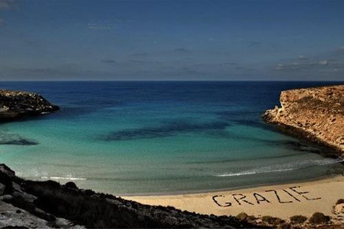 Lampedusa island - source Amnesty Int