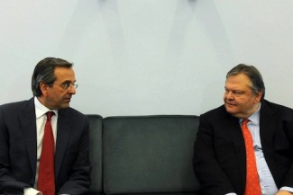 Samaras-Beni talks - source Samaras Fb