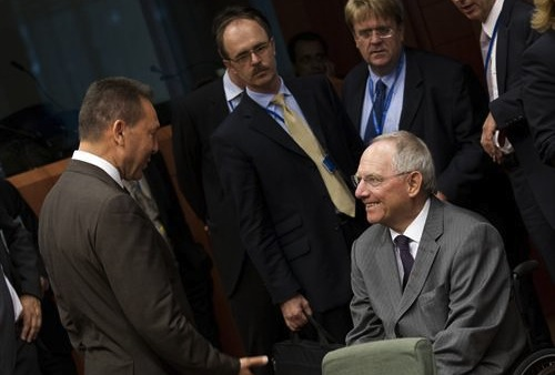 Stournaras Schauble Eurogroup - source European Council