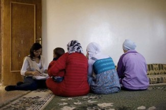 Syrian family in Lebanon - source UNHCR