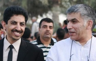 Bahrain_Abdulhadi_al-Khawaja_and_Nabeel_Rajab - source Bahrain Center for Human rights
