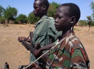 Child soldiers - source IRIN