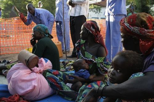 Cholera treatment Siera Leone - source IRIN Nancy Palus
