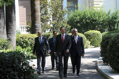 Samaras with associates - source PM FlickR