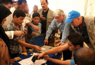 Syria refugees - source UN