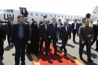 arrival in tehran