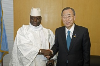 Gambia Jammeh and Ki-moon - source UN