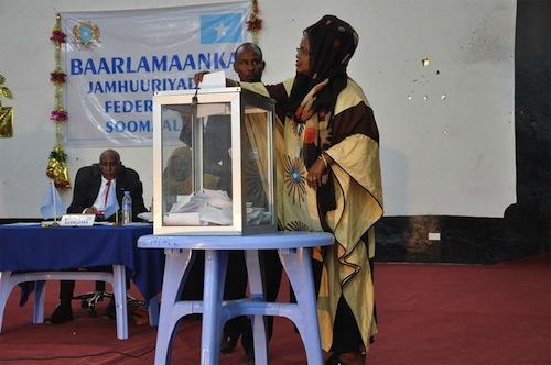 Somalia Parliament vote - source UNPOS