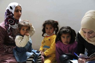 Syrian family - source UN