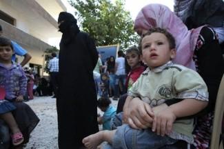 Syrian refugees -source UNHCR