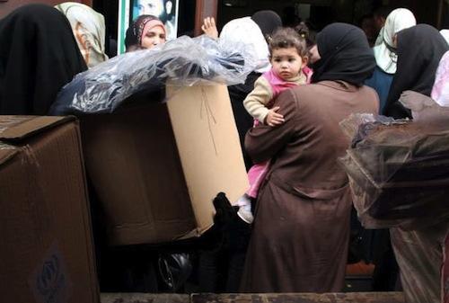 Syrian refugees - source UNHCR