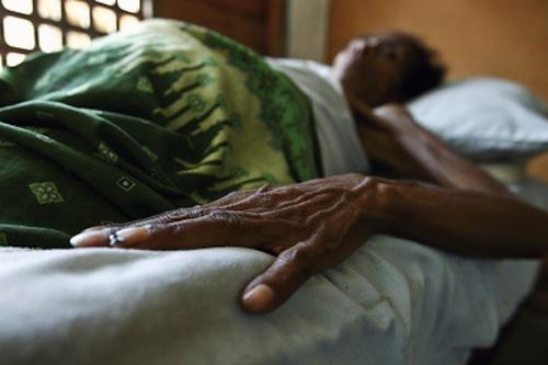 AIDS patient in hospital - source UN