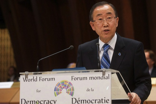 Ban Ki-moon speech - UN