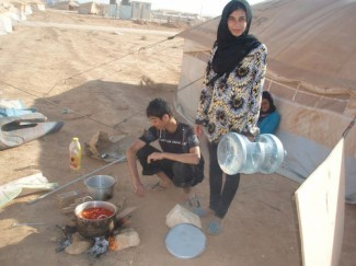Syria refugees - source WFP