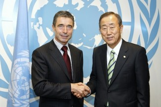 Secretary-General Meets Secretary General of NATO.