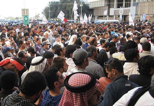 Bahrain protesters - source UN