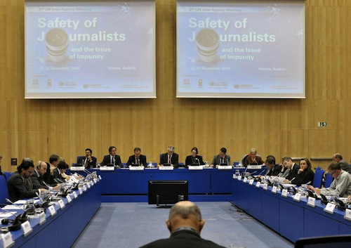 UN discussing safety of journalists- source UN