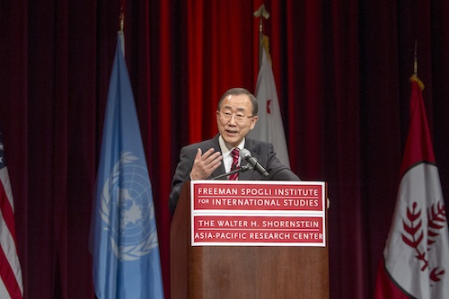 Secretary-General's Lecture at Shorenstein Asia-Pacific Research Center, Stanford University