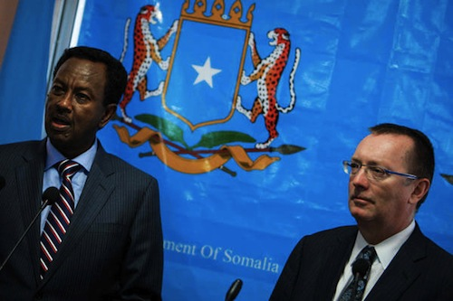 Feltman UN and Somali Min. Shirdon - AU-UN IST