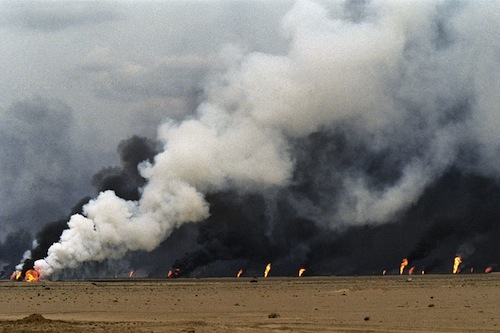 Kuwait 1991 -  Al Maqwa oil fields - UN