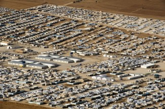 View of Zaatri Refugee Camp