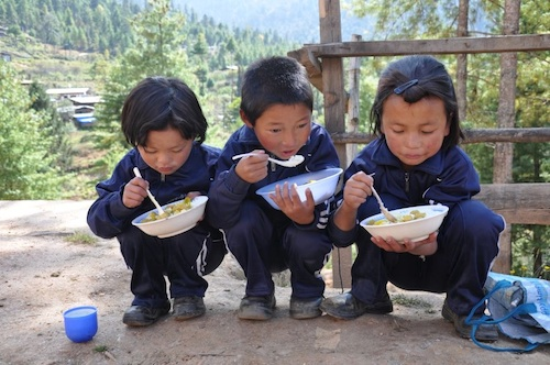 Children in Bhutan - source WFP