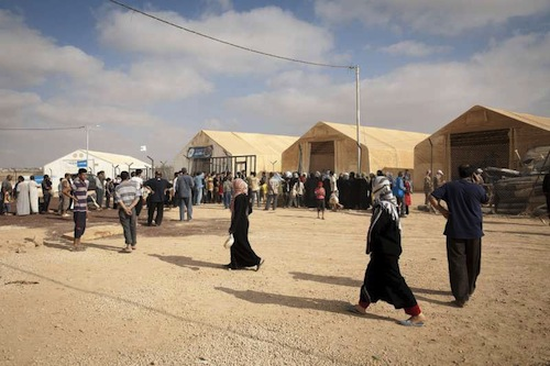 Syrian camp refugees - UNHCR