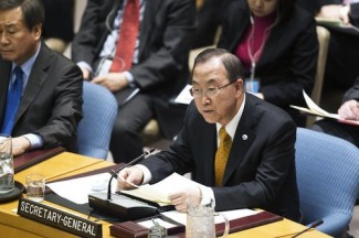 Ban Ki-Moon briefs Security Council - UN