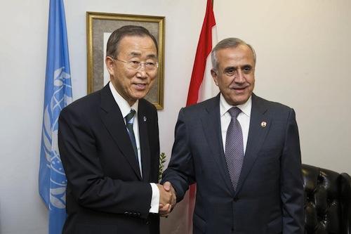 Ban - Sleiman - UN