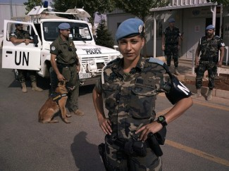 Woman UN officer Lebanon - UNIFIL