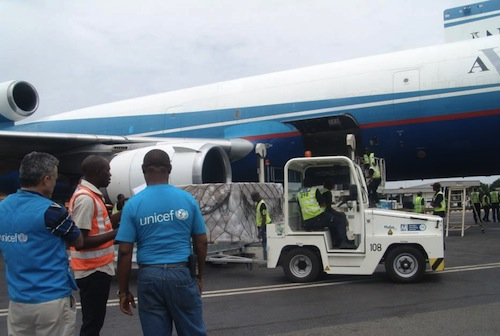 Flight carrying supplies Central African Republic - UNICEF