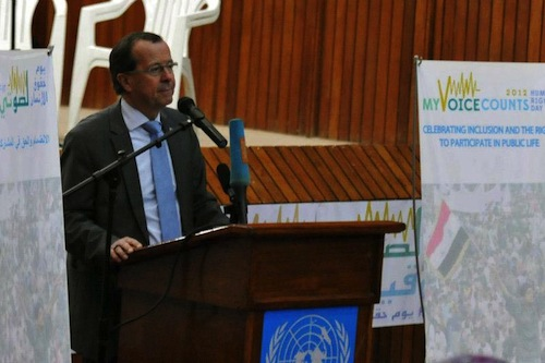 UNAMI head Martin Kobler
