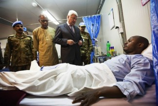 Peacekeeper wounded Darfur - UN
