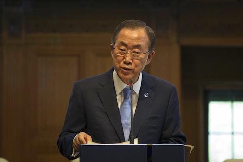 BAn Ki Moon speech - UN