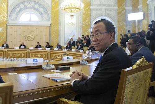 Ban Ki Moon st Petesburg -  UN
